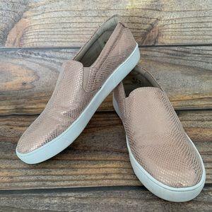 NATURALIZER rose gold slip on shoes size 7